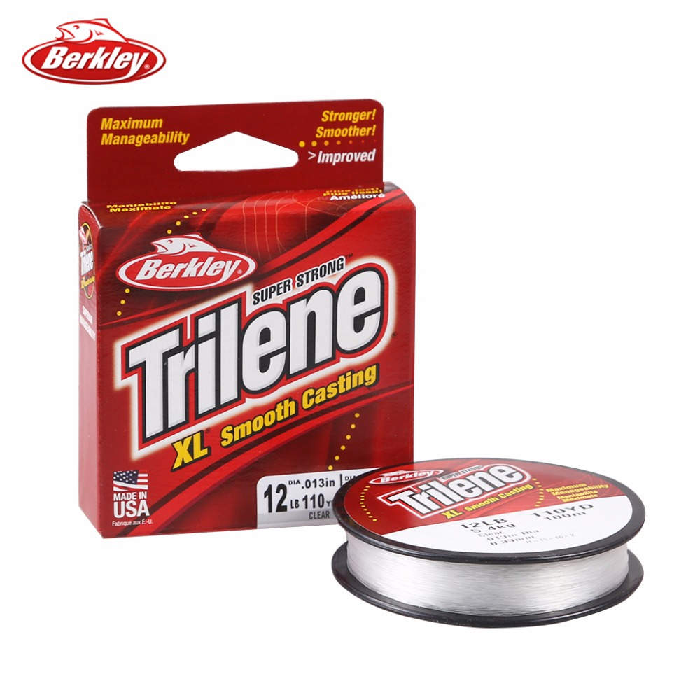 Original Berkley Brand Trilene XL 110yd 100m Fishing Line Clear ...