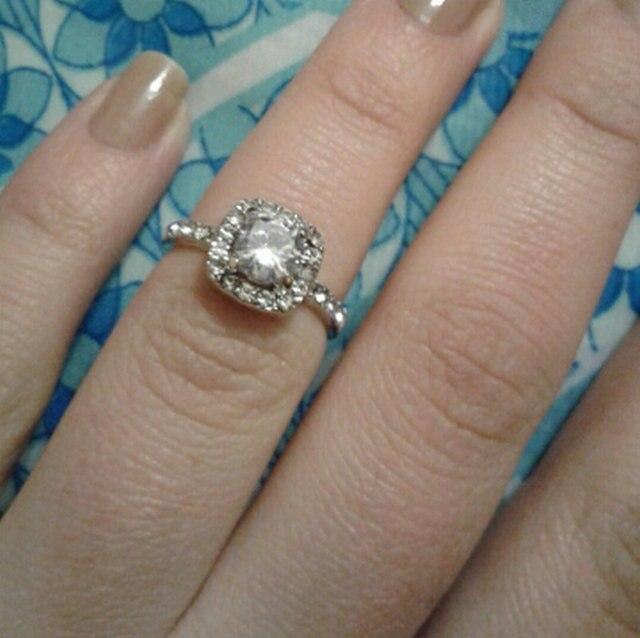 1.75ct AAA циркон обручальные кольца серебряные украшения Обручение кольцо  для Для женщин best список 2018 58822c19f9c