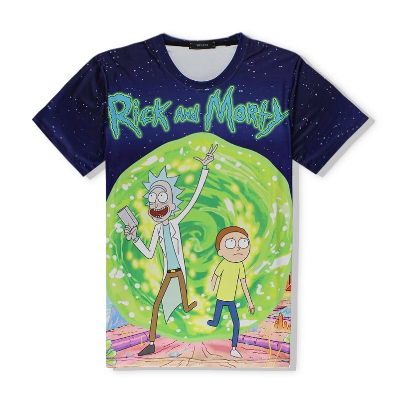 2017 new fashion Rick and Morty t-shirt women/men harajuku tee shirt printed 3d Cartoon t shirt Camisetas funny clothing R2332