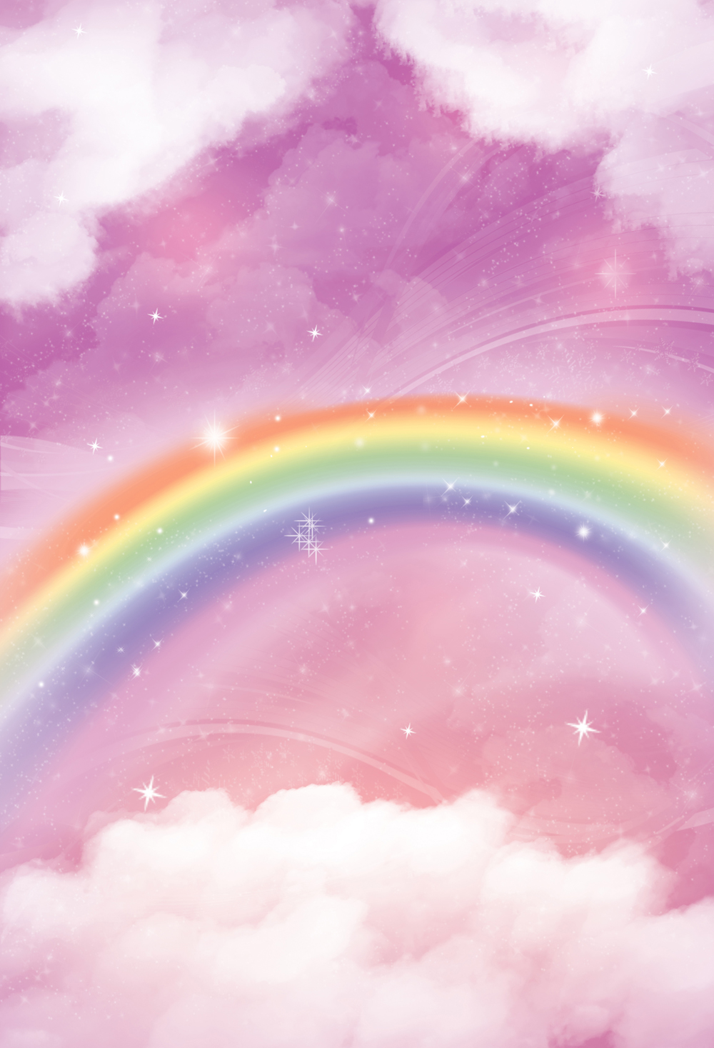 HUAYI 5x7ft Vertical Rainbow Backdrop Art Fabric