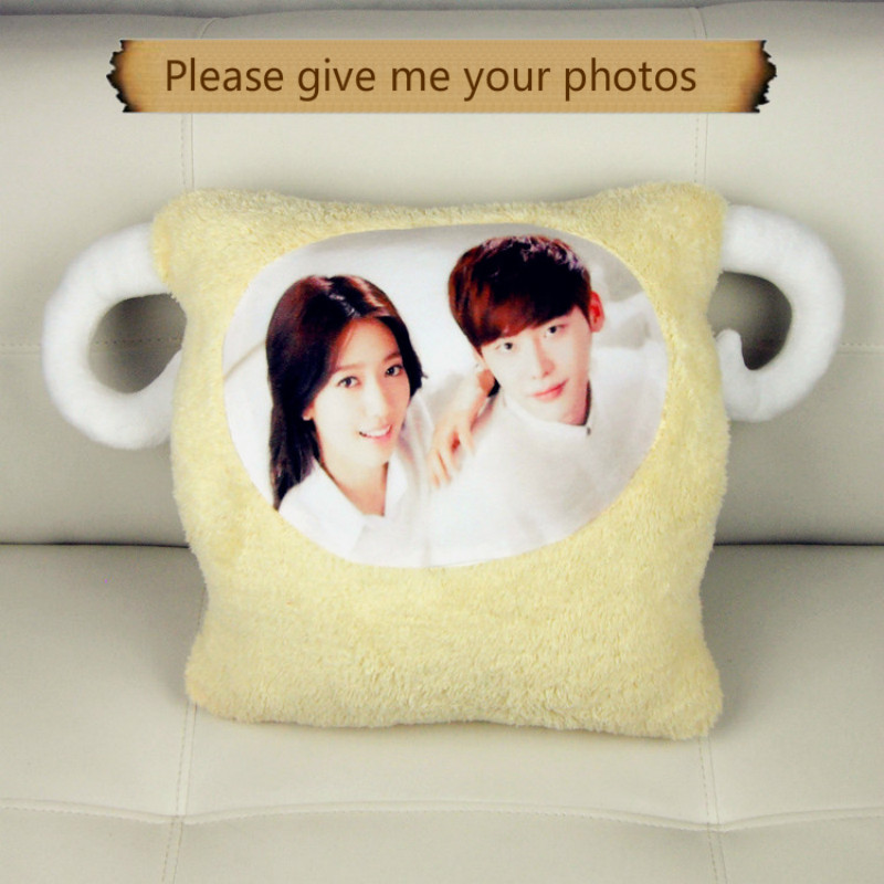 Photo custom diy sheep doll warming my hands over your warm hands hold pillow in the treasure Cushion for leaning on boyfriend