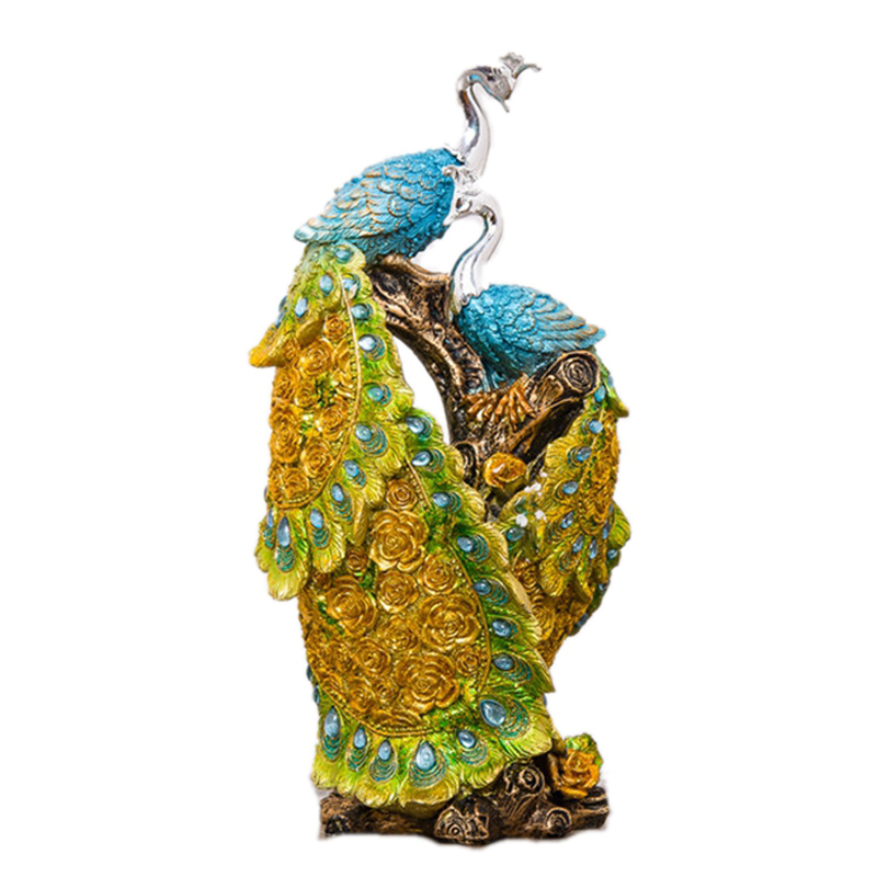 Peacock Wedding Gifts: Vintage Peacock Resin Craft Figurines Europe Home