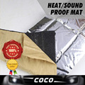 "10""x40"" 25cmx100cm CAR Door FOIL SOUND HEAT Control Shield INSULATION Exhaust Muffler BLANKET Deadener Deadening PAD MAT"