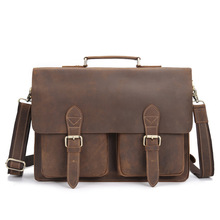 купить Genuine Leather Messenger Bag Men Handbag Bag 15.6 Inch Laptop Portfolio Business Men's Business Briefcase Flap Shoulder Satchel по цене 4867.36 рублей