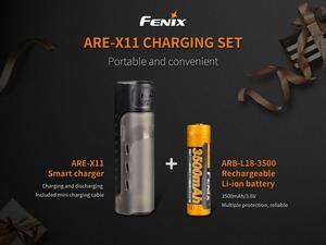 Image 2 - Fenix KIT de carga de ARE X11, cargador de batería inteligente, 5V, salida USB, ARB L18 3500 de batería inteligente