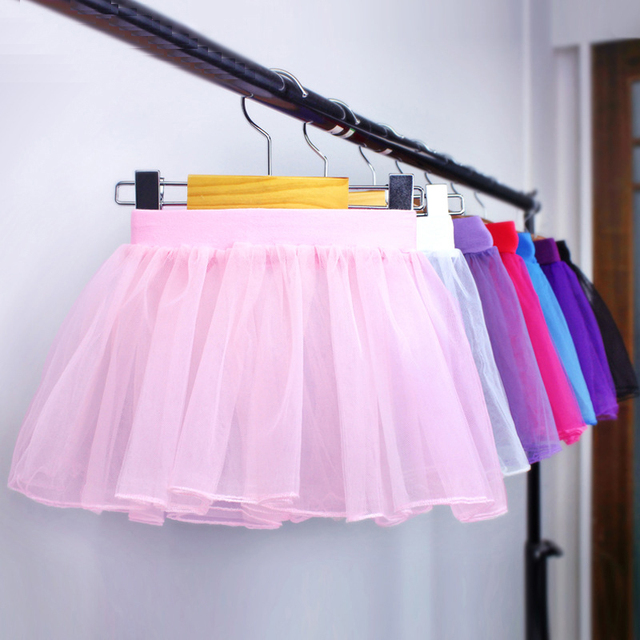 96edede4752a 3 Layers Elastic Ballet Dance Tulle Skirt For Girls Child High Waist ...