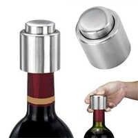 1Pc bouchon de bouteille de vin sous vide en acier inoxydable stockage scellé bouchon de haute qualité bouchon de débit de liqueur bouchon Pour bouteilles