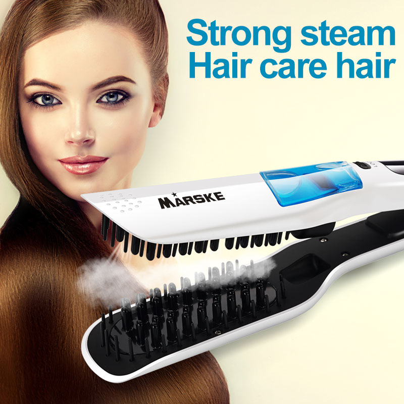Steam Straightening Brush Escova Alisadora Fast heating Elec