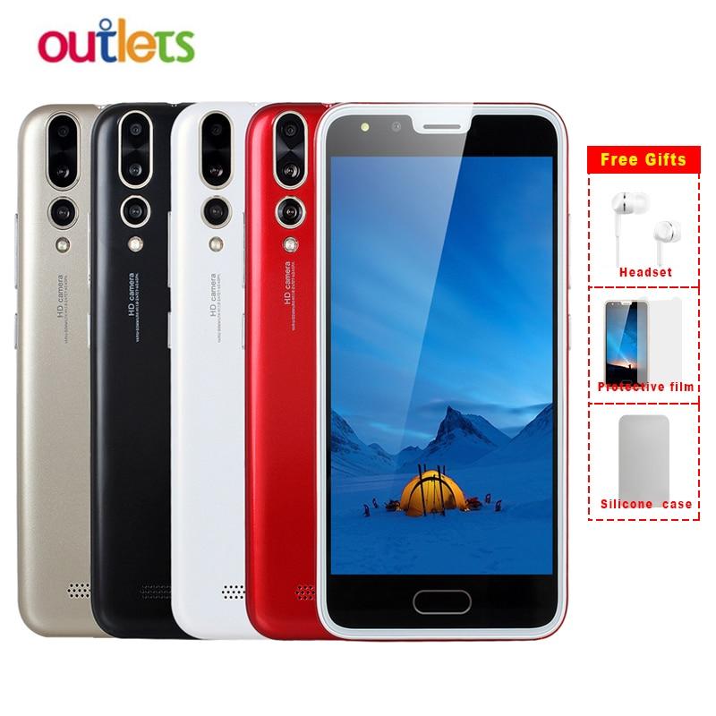 O núcleo duplo 3g wcdma android 5.0 4.4 mb + 4 gb 2.0mp 512 mah do sim duplo do núcleo mtk6572 da tela grande do smartphone de cectdigi p20 1500 polegadas