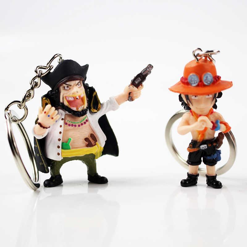 10pcs Lot 4 5cm One Piece Cute Keychain Figure Model Toy Monkey D Luffy Sanji Nico Robin Jinbe Kawaii Keychain For Children Gift