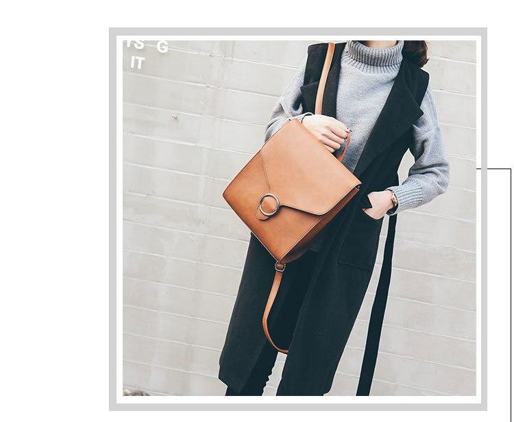moda femenino bolso pu cuero mochila mujer 2018 mochila retro zax7FFd