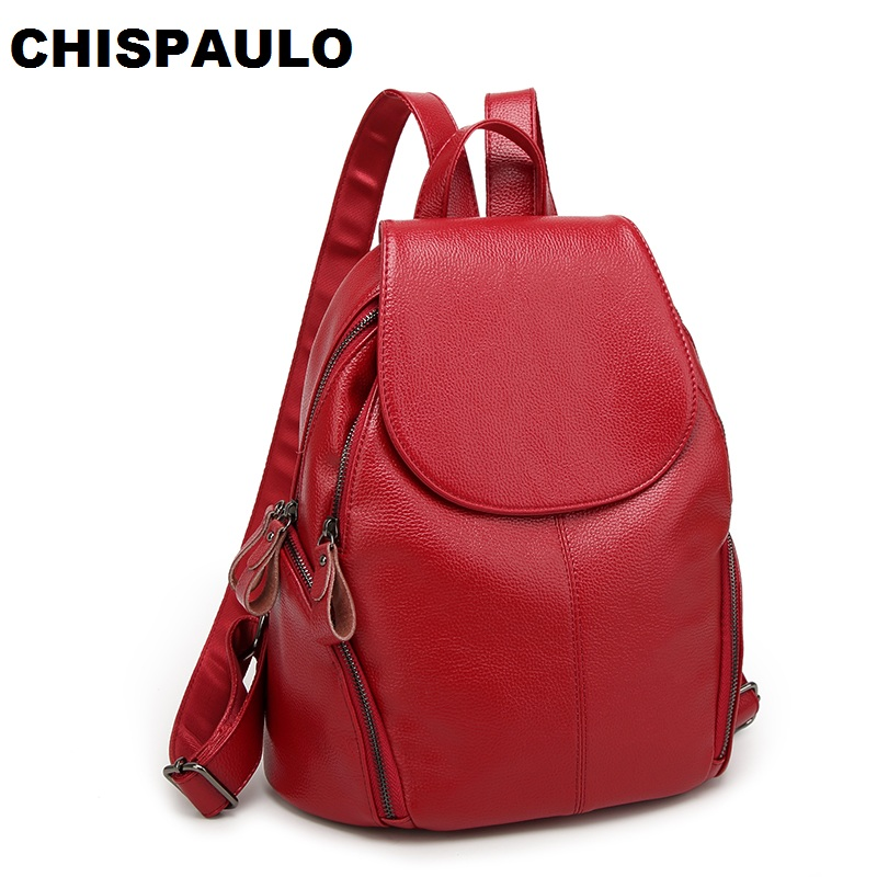 купить FASHION Genuine Leather Backpack Vintage Cow Split Leather Women Backpack Ladies Shoulder Bag School Bag for Teenage Girl N051 недорого