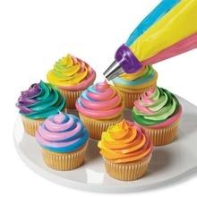 3 отверстия, инструмент для украшения торта, 3 цвета, смешанный конвертер для кекса, крема, цветочной глазури, насадка, конвертер, соединитель, инструмент для выпечки