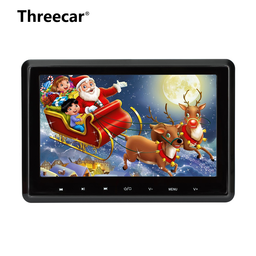 Headrest DVD Player 10.1 Inch HDMI 1080P Digital TFT LCD Screen Car Headrest Monitor with USB SD Port Remote Control Christmas