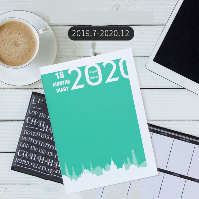 2019 2020 Schedule Daily Weekly Planner Notebook Agenda A5 B5 Meeting Record Notebook School Stationery Supplies Bullet Journal