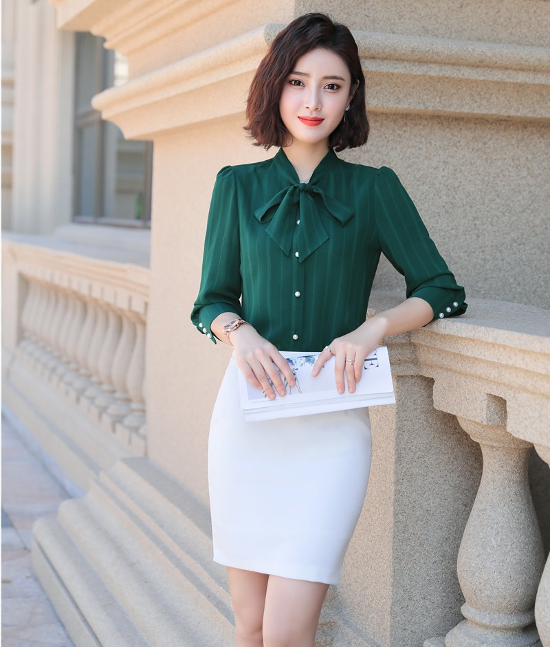 Formal Women Business Suits With Tops And Skirt For Ladies Office 2019 Spring Summer OL Styles Blouses & Shirts Office Suits