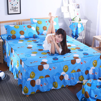 Korean bed skirt set thicken bed cover sheets bed 100% cotton quilted lace bedspread pastoral flower lace bed sheet 1pcs king