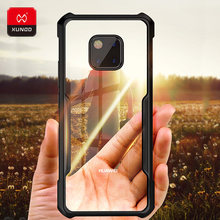 Luxury Slim Transparent Shockproof Case For New Huawei Mate 20 Pro X Phone With Airbags Silicone 360 Full Protective Cover Cases(China)