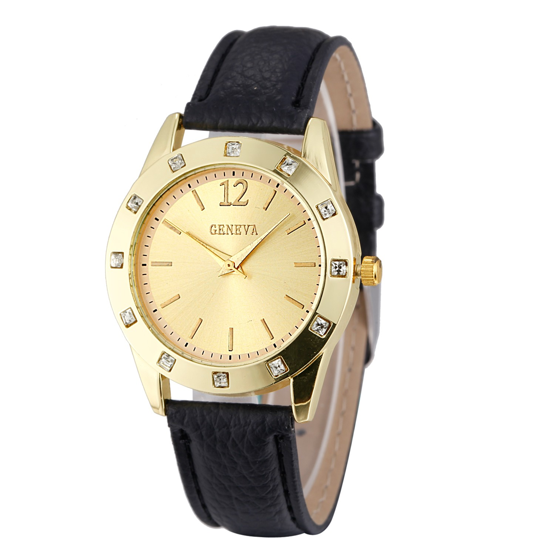 2017 Fashion Women Genava Quartz Watch Wrist Watches Ladies Wristwatch Female Clock Quartz-watch Relogio Feminino Montre Femme