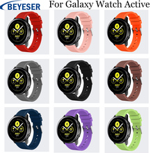20mm Silicone Replacement strap for Samsung Galaxy Watch Active band for Samsung Gear S2 Sport watchband for galaxy watch 42mm 20mm width silicone strap for samsung galaxy watch 42mm band for samsung gear sport gear s2 classic sm r7320 silicone watchband