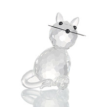 H&D Crystal Collectible Standing Cat Figurine For Valentine's Gift Miniature Glass Trinket Collectible for Home Wedding Decor(China)