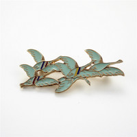 Free Shipping Fashion Women's New Jewelry Zinc alloy drops glaze Dayan South fly coat brooch Accessories wholesale sets