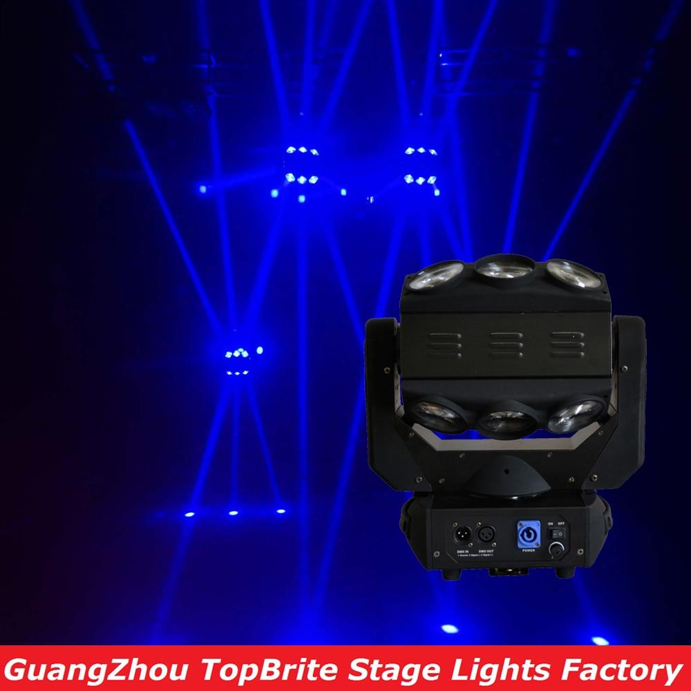 Nouveau Design Factory Prix 1Pcs / Lot 9X10W Rouleau LED Lumière Tête Mobile RGBW 4in1 Effet Fantôme Lumière pour DJ Disco Party Lights