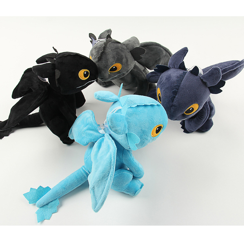 20cm How to Train Your Dragon Toothless Dragon Plush Toys Night Fury Toothless Plush Soft Stuffed Animals Toys Gift for Children 7pcs 8pcs a set how to train your dragon 2 action figure toys night fury toothless gronckle deadly nadder dragon toys for boys