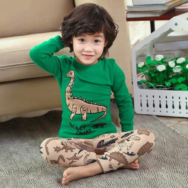 7dd91bdcc628 Пижамы детские комплекты ночной костюм с рисунком динозавра для мальчиков  детская одежда для сна с героями мультфильмов пижамы для маленьк.