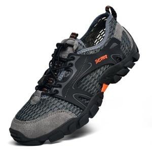 Image 3 - Men Hiking Shoes Waterproof Shoes Men Mountain Climbing Trekking Shoes