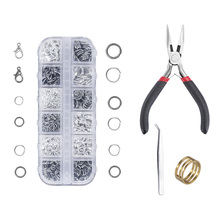 4/5/6/8/10/12mm 1204pcs lobster clasp handmade combination set DIY fashion jewelry found making box jewelry tools accessories 7 metric sockets handle hardware combination package 5 6 8 9 10 11 12mm hand tools