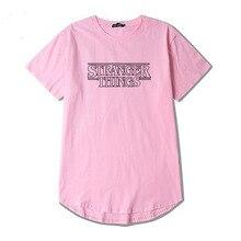 Bavlněné jednoduché tričko s krátkým rukávem a nápisem Stranger Things
