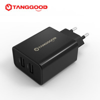 TANGGOOD USB Charger 5V 3 4A Dual Port Universal Portable Travel Wall Charger Adapter EU Plug