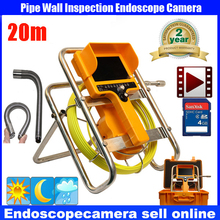 "20m/30m Cable Fiber Glass 7""  Waterproof Pipe Sewer Inspection DVR Camera 1000TVL 12Leds 90 degree Endoscope Snake Camera"