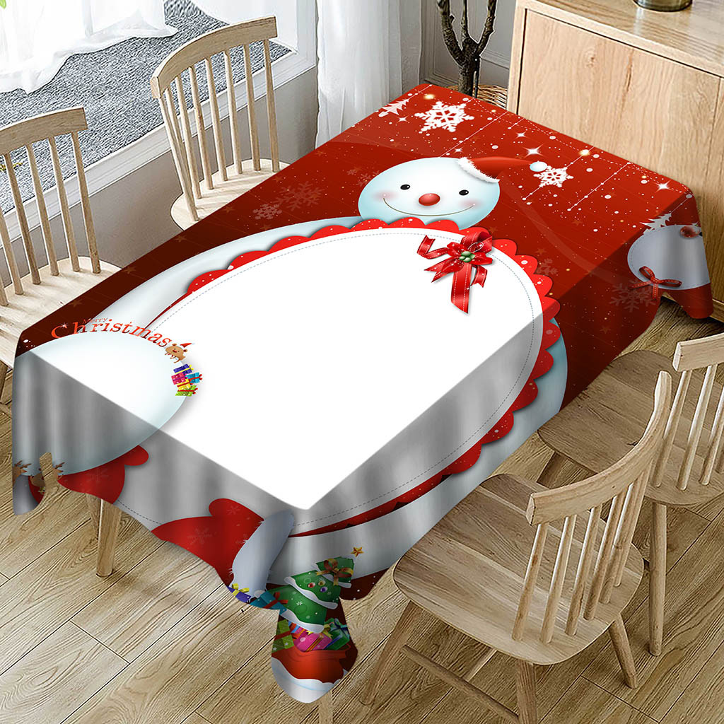 Dropshipping Decoration Christmas Tablecloth Print Christmas Decoration For Home