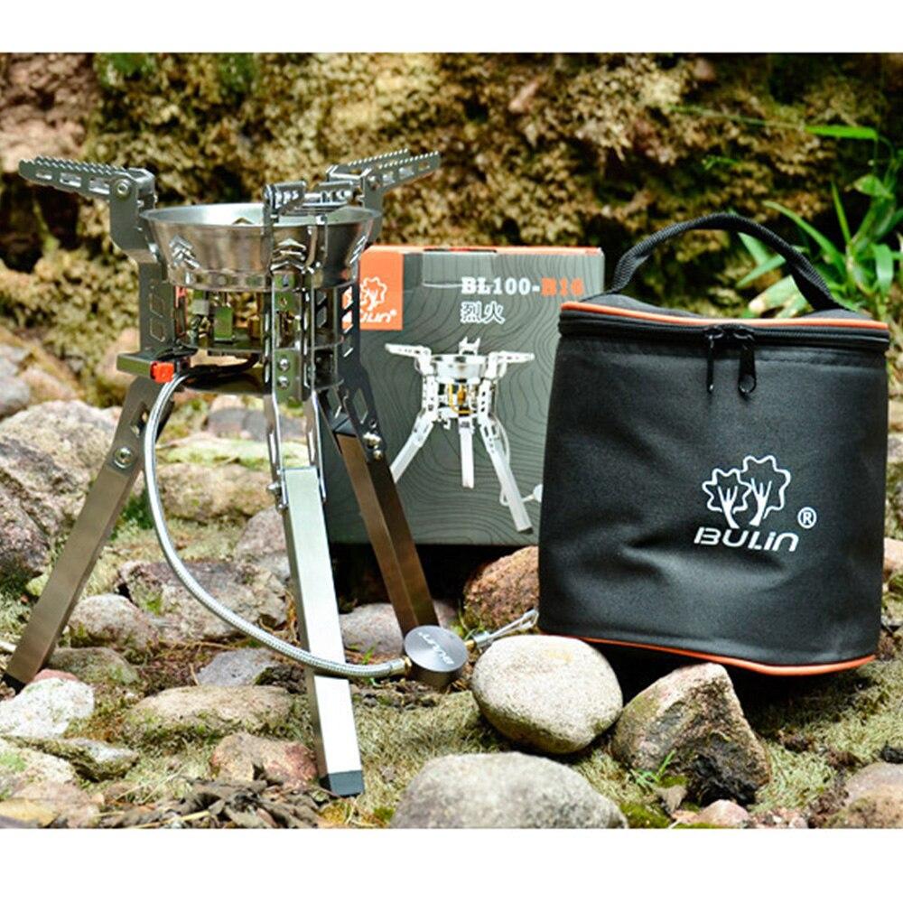 Bulin BL100 B16 наружные сплит газовые горелки плита ветрозащитное Походное оборудование походная печь для пикника складной портативный барбекю снаряжение - 5