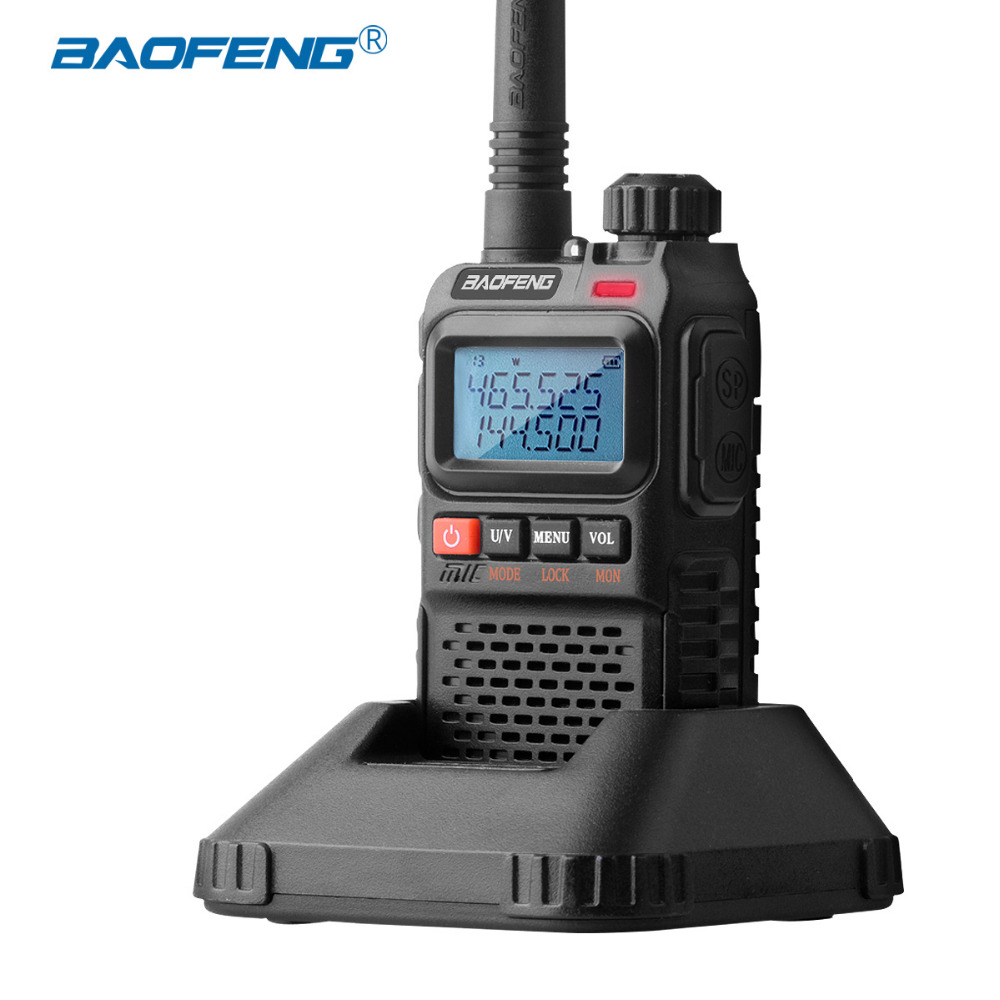Baofeng UV-3R Plus Walkie Talkie Mini Two Way Radio Portable Ham Radio UHF VHF D 1