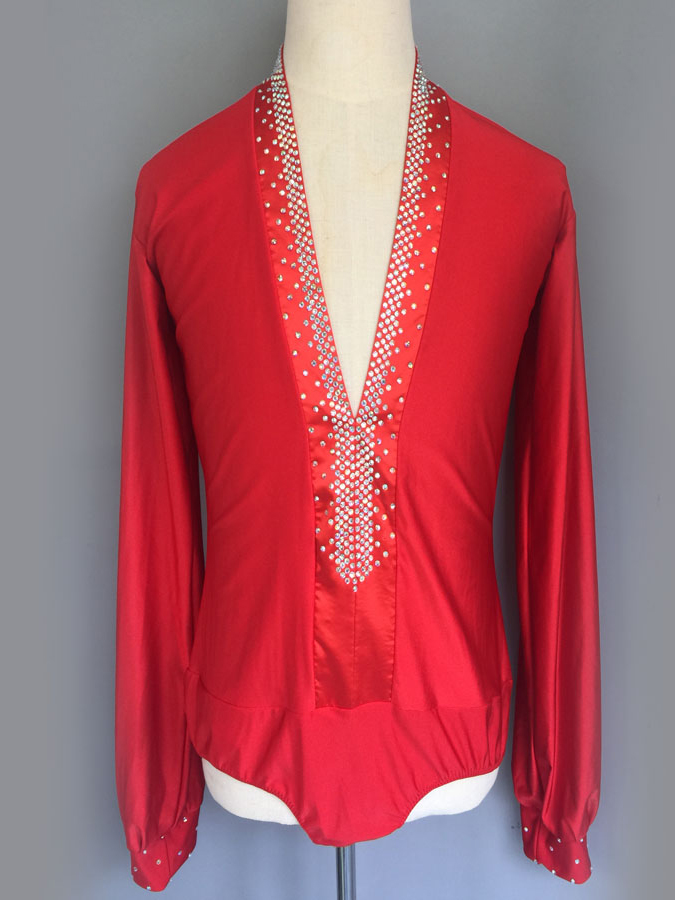 GD5046 Kid Latin Modern Ballroom Dance Professional Round Collar Tops for boy