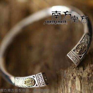 Thailand handmade sterling silver jewelry LAOYINJIANG handmade thai silver vintage Women bangles Free shipping