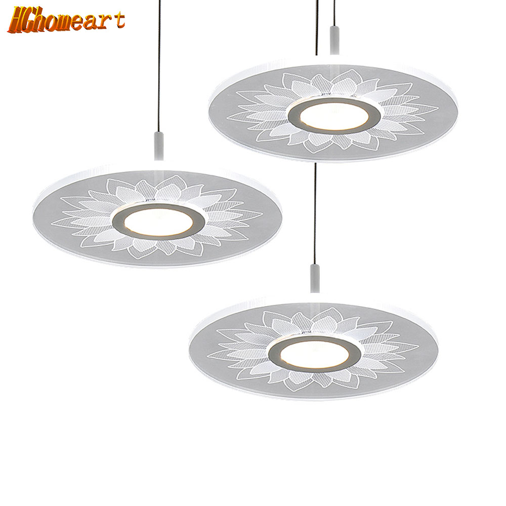 HGHomeart Classic LED Chandelier Acrylic Round Lighting Suspension Living Room Lustre Chandeliers LEDs Night Lamp110/240V hghomeart creative cartoon chandeliers led crystal chandelier kids room light wrought iron lamp lustre suspension