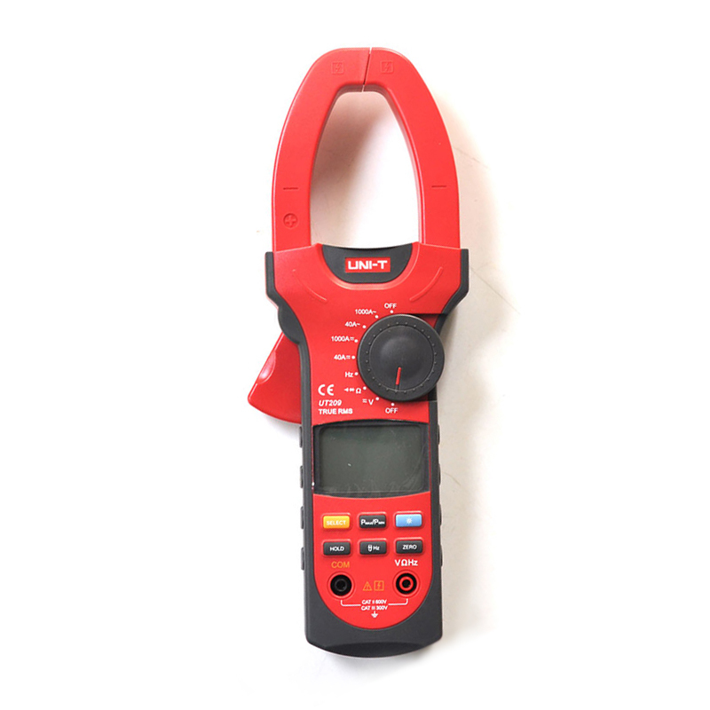 UT209 3 3/4 Digital Auto Range Digital Clamp Multimeters1000A 600V True RMS Clamp Meter UNI-T Ammeter Voltmeter LCD Backlight