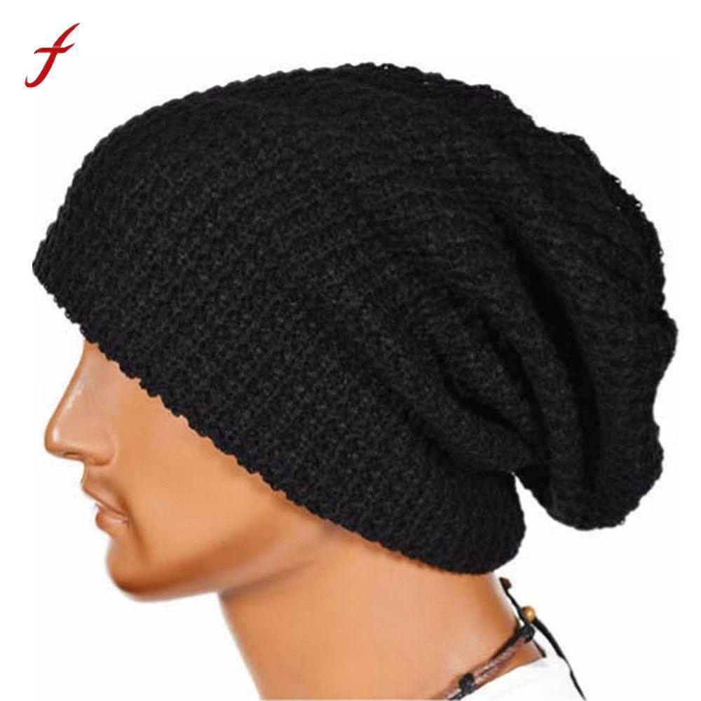 e54de5a2db3 2018 Warm Fashion Winter Hat For Men Knitting Hat Cap Women Beanie Hat Cap  Skullies Beanies