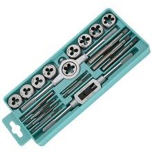 EVANX 20pcs Taps Dies Sets Kits1/2''-6''NC Screw Thread Inch Plugs Taps Carbon Steel Hand Screw Taps Hand Tools