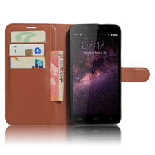 for Homtom HT17 Cyboris cover For Homtom HT17 Pro 5.5 inch Flip Lichee Holster PU Leather with card slot holders stand function