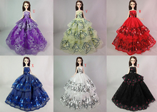 One Piece Evening Dress For  Doll Multi Layers Wedding Dress Furniture For Doll Clothes For  Doll Accessories