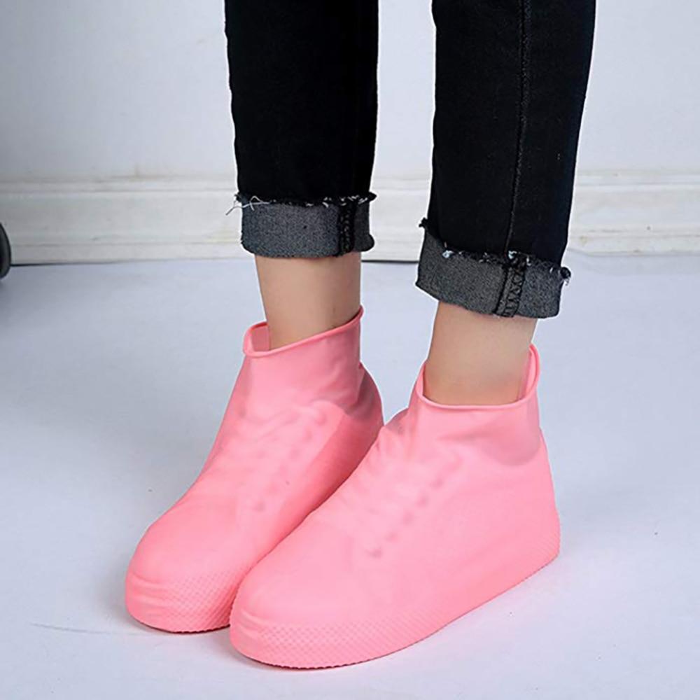 1 Pair Latex Rain Shoes Covers Reusable Waterproof Slip-resistant Boot