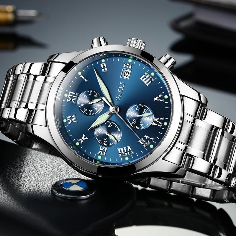 35893ade5cb OLEVS homens relógios da famosa marca de luxo reloj uhr de los hombres  erkek saatleri grande relógio Relógio à prova d  água mens presente em  Relógios de ...