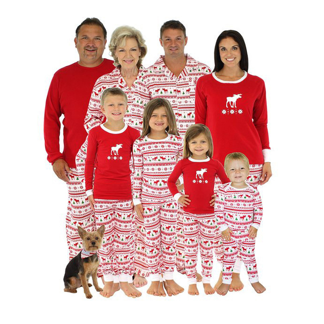 Matching Family Christmas Pajamas Kids Baby Boys Adult Deer Pajama ...