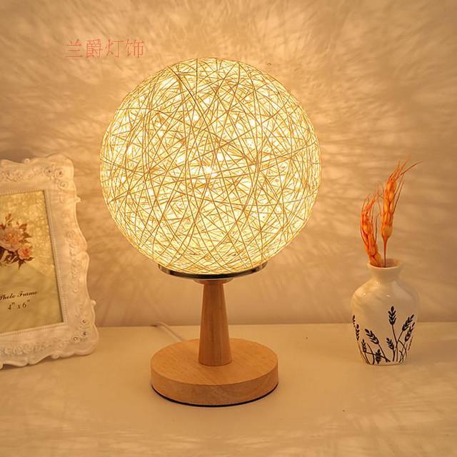 Quarto luzes moda moderna decoração de cabeceira lâmpada de fio de luz E27 lâmpada