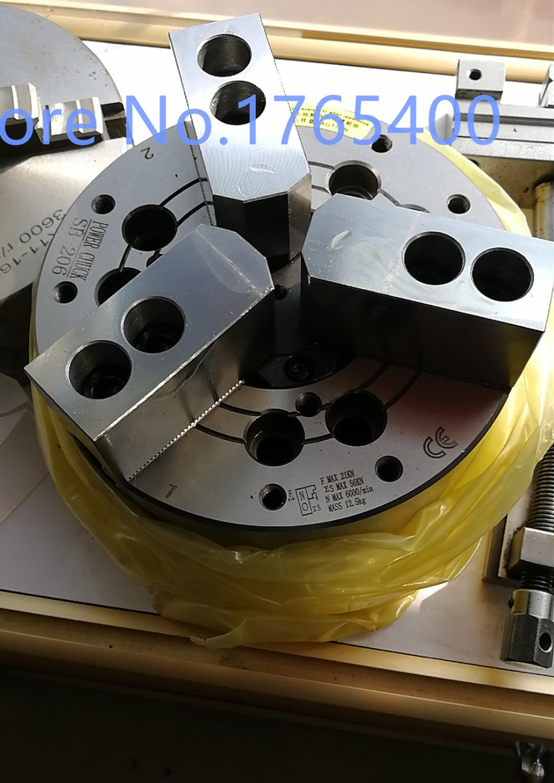 New 3 jaw 5 inch High Speed Hollow Power  chuck three hydrualic full steel body for CNC lathe machine